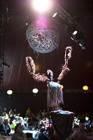 Publiken bjöds bland annat på en surrealistisk dansuppvisning till tonerna av svansjön från den dansande roboten Robocygne, skapad av koreografen Åsa Unander-Scharin och Lars Asplund från Mälardalens högskola.
