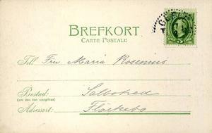 ...för på baksidan krävde Post- och Telegrafverket att det skulle vara prydligt.