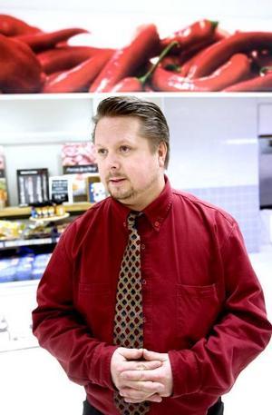 Fredrik Rydberg, ICA-handlare i Sätra centrum