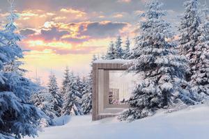 Ett naturnära läsrum ingår i ansökan. Illustration: Saunders Architecture
