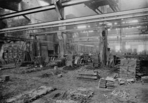 Verkstadsbolaget Skoglund & Olssons fabrik på Brynäs vid cirka 1900.
