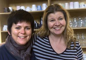 Annica Johansson, Sandarne och Liisa Rastas, Söderhamn, pluggar ihop.