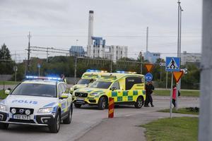 Platsen för olyckan vid Hammarbyrampen.