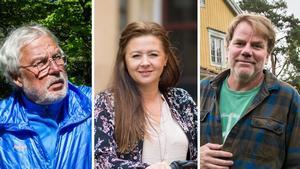 Årets kandidater: Nils-Erik Hjelmer, Cicilia Sedvall och Staffan Braw.