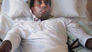 Utredning. Abraham Ukbagabir vårdas fortfarande på sjukhuset i Västerås för sina skador. Det är också där den den rättspsykiatriska utredningen har genomförts.