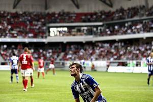 Elmar Bjarnason när Kalmar FF mötte IFK Göteborg på GuldFågeln Arena i Kalmar förra säsongen.