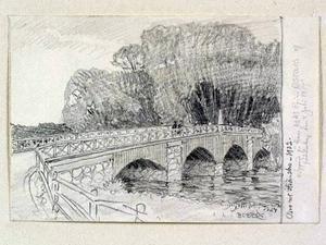 Då. Som Ferdinand Boberg såg Oskarsbron i Strömsbro 1913.