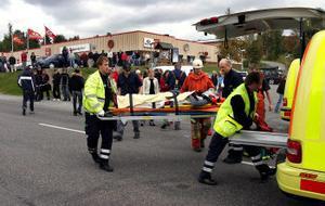 En 15-årig mopedförare skadades allvarligt vid en olycka i Vi i går.
