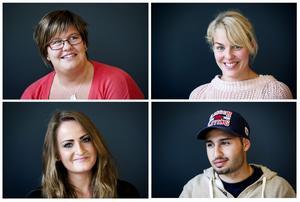 Minir Mhammad Ali, Sara Domeij, Camilla Hörnlund och Cim Ericzon har precis påbörjat sin utbildning till sjuksköterskor i Örnsköldsvik.