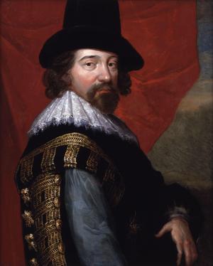 Den brittiske vetenskapsmannen Francis Bacon 1618.