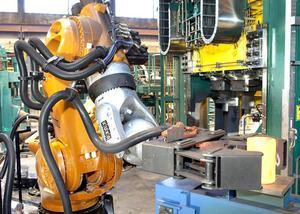 Robotarna i Ringverk 10 har  sex axlar och kan lyfta vikter på upp till 1,3 ton.