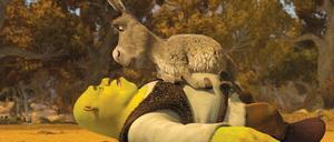 """Shrek och Åsnan är tillbaka för en sista piruett i """"Shrek – Nu och för alltid"""", men det hela känns pliktskyldigt och trött. Foto: Dreamworks"""