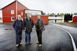 Delar av det nya området är reserverat för 60-plussare. Kanske Östersundsbostäders ordförande Jens Nilsson (S), vice ordföranden Sven Ringvall (M) och Bengt Rådman, vd, kanske är framtida hyresgäster.
