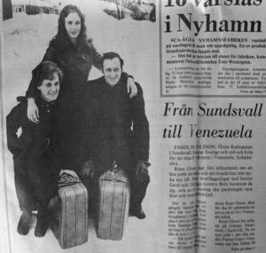 ST var förstås på plats när familjen Olsson lämnade tryggheten i Sverige för att flytta till avlägsna Venezuela i Sydamerika 1978.