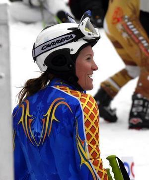 Besviken sjua. Teresse Borssén var inte nöjd med sin insats i går. I dag kan hon ta revansch i slalom.