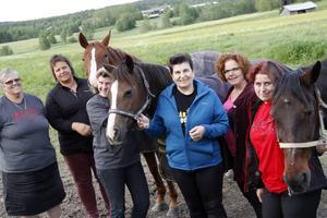 De har massor att göra inför hästrallyjubileumet, Anna-Lena Arousell Berglund, Katarina Westrin, Carina Widlund, Gertrud Selander, Maria Östlund och Anna-Lena Selander.