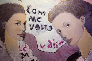 Texter  av vännen Ola Rapace – mestadels på franska –  har inspirerat Camilla Pyk.