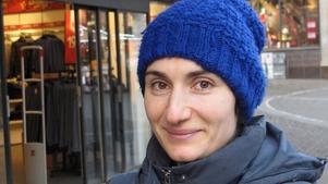 Aleria Sebastian, 34, föräldraledig, centrum: – Snö! Det är väl inte jul annars? Men jag hoppas mest för barnens skull. Det är fint med snö.