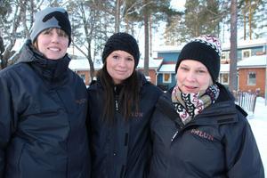 Karolina Pettersson, Helena Gebauer och Gunilla Andreasson, pedagoger på Hasselvägen, ser möjligheter både för barn och personal med en större förskola.