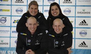 Bettan Högberg, Anna-Karin Strömstedt, Björn Ferry och Carl-Johan Bergman.