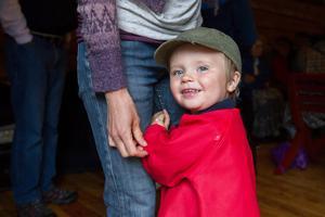 En av de yngsta besökarna på stämman var Tim Holmkvist.