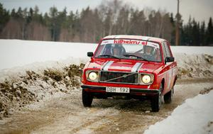 Kenneth Kilheim/Robert Karlsson, JMK, körde i RM för Klassiska Rallybilar.