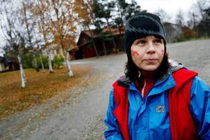 Mia Nilsson berättar att nästa år ska Jamtli bygga upp ett vikingaläger.Foto: Henrik Flygare
