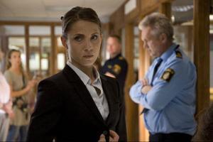 Tuva Novotny spelar Karin som är på väg att bli partner i advokatfirman där hon jobbar. Samtidigt kämpar hon med att balansera sitt arbetsliv med sitt privatliv.Foto: Nordisk Film