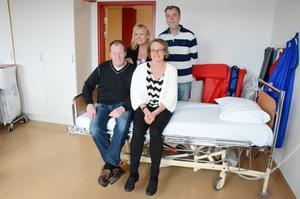 Marknadsföringsgruppen. Övre rad: Maria Lindstedt, Michael Sundh. Nedre rad: Janne Johansson och Gunilla Lindblom.