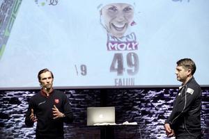 Världsmästaren Johan Olsson blir nätverkets ambassadör och intervjuades av längdchefen Johan Sares.