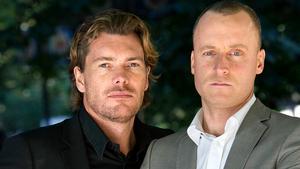 Patrick Grimlund och Magnus Hedberg, programledare för Lyxfällan i TV3