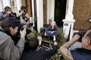 2007. Doris Lessing intensivt uppvaktad efter fjolårets besked. Foto: Lefteris Pitarakis/AP/Scanpix