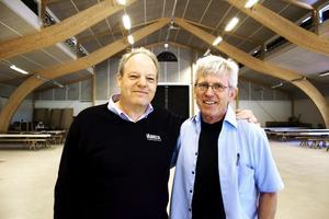 Per Anders Andersson och Anders Ekstrand hälsar välkomna till fyra allsångskvällar i Torp.