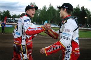 Får Timo Lahti och Kim Nilsson jubla igen? I morgon tisdag väntar bortamatch mot Västervik.