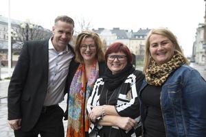 Gruppen som fixar världsrekordsförsöket, Lars Nyhlén, Maria Åslin, Anna Frisk och Nina Dahlberg.
