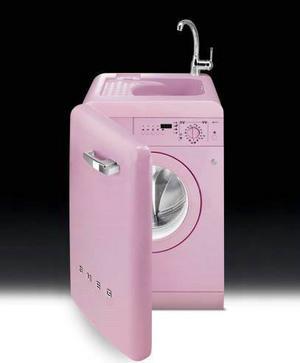 Kombi. Tvättmaskinen i köket kan fungera alldeles utmärkt om maskinen är så här söt med inbyggd diskho. Från Smeg, 15 995 kronor hos bagarenochkocken.se.