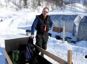Johan Utas är ledare för expeditionen som utforskar grottsystemet i Bjurälven. På årets expedition gjordes nya upptäckter.