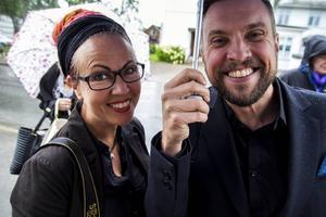 Lokalkändisarna Katarina Hansson och Kristian Olsson.