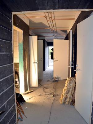 Utbyggnad för toaletter.