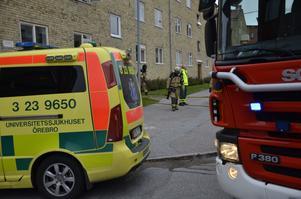 Rök, men inte mycket till eld, mötte räddningstjänstens personal vid utryckningen till en lägenhet på Götgatan vid lunchtid.