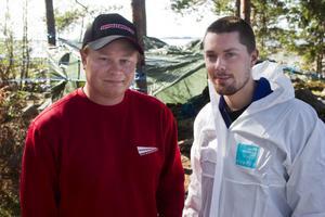 Mikael Sjölund och Christian Ståhlberg arbetar på ön Ottegrund.