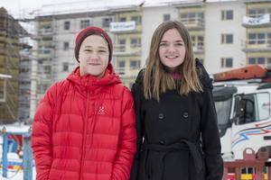 Eleverna från Lucksta skola, Gustaf Spjuth och Daniella Boman, är två av eleverna som hjälper Mitthem att utveckla det nya trygghetsboendet.