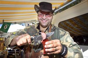 Markus Holms egen favorit är den speciella hästkorv han sålt i 16 år.