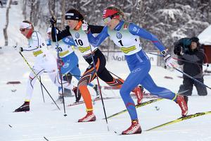 Arkivbild. Anna Dyvik (i mitten) vann guld i U23-VM i damernas klassiska sprint.