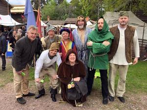 Delar av sällskapet på medeltidsmarknaden i Leksand tidigare i år.