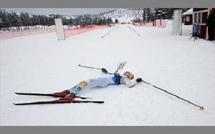 HELT SLUT. Stora Tunas Anton Sjökvist tog ut sig fullständigt, trots det missade han bronset med fem sekunder. Men en mycket bra placering för JVM-debuterande Sjökvist.