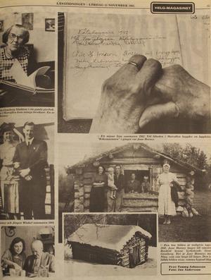 I november 1985 gjorde journalisterna Tommy Johansson och Jan Andersson ett reportage i LT om Jane Horneys vistelser i Härjedalen och intervjuade då Elsa Frykholm-Granberg, tidigare gift med Janes svåger kyrkoherde Georg Granberg i Funäsdalen. Artikelserien kom till i samband med en tv-serie som visades i SVT.