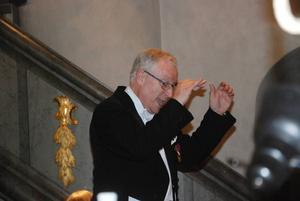Erik Svensson ledde jubileumskonserten med den äran.