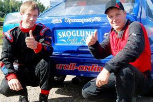 Full pott för familjen Jonsson från Alfta i Uphill cup. Markus (till höger) som suverän segrare och lillebror Martin som tvåa!