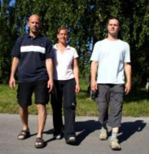 Till hösten öppnar från vänster Jörgen Härén, Veronica Hägglund och Niclas Andersson en livsmedelsaffär i Ljustorp. Alla tre är full av förväntan och hoppas konsumenterna ska uppskatta sortimentet.